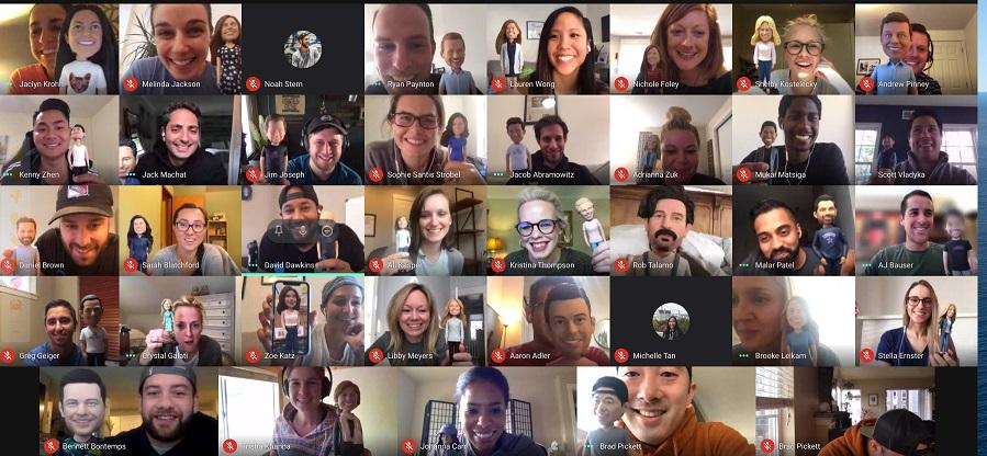 Google team loves their bobbleheads!